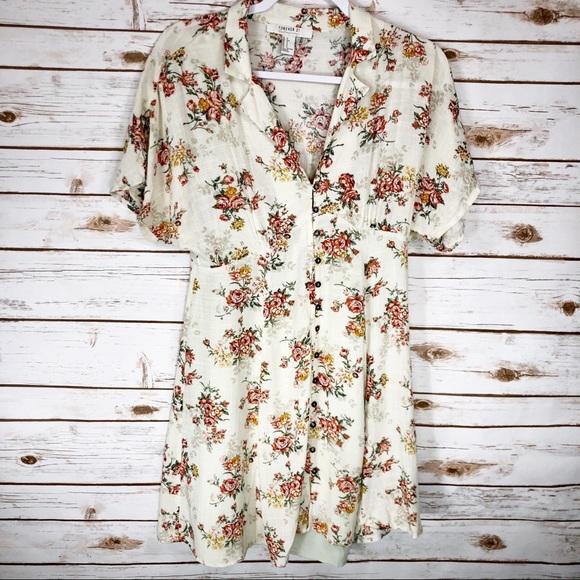 Forever 21 Dresses & Skirts - Forever 21 Cream Floral Dress